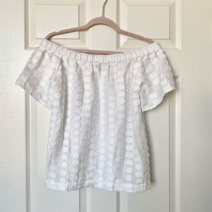 1. State White Off the Shoulder Top